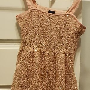GapKids Gold Sparkle Fancy Dress Size 6/7